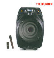 Telefunken TTS-8BT 8in Trolley Speaker with Bluetooth, MIC & Rem