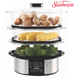 Sunbeam SEFS-300 3 Tier Electronics Food Steamer