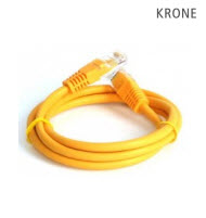 Krone Cat5E UTP Patch Yellow Molded Cord- 1m
