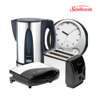 Sunbeam SKP-004 4-Piece Deluxe Kitchen Pack with Wall Clock
