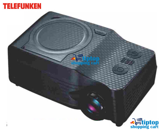 Telefunken TDP-2500DVD Projector with DVD, FM, MP5, TV and