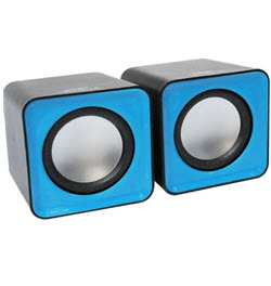 2.0CH USB Mobile Speaker Trim Black n Blue
