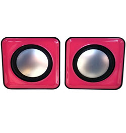 2.0CH USB Mobile Speaker Trim Black n Pink