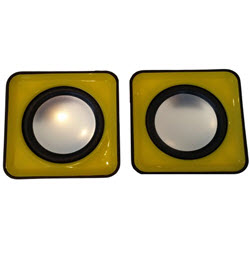 2.0CH USB Mobile Speaker Trim Black n Yellow