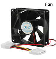 Microworld 80mm Black Chassis Cooling Fan