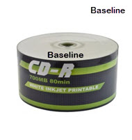 Baseline CD-R 10-Pack Printable Cake