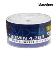 Baseline 16X DVD-R 10-Pack Set