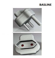 Baseline BL-ADA402 Euro 2 Pin Top Entry Adaptor