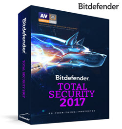 Bitdefender Total Security 2017 Multiple 5 Devices 1 Year DVD