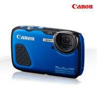 Canon D30 PowerShot Blue WaterProof Digital Compact Camera with