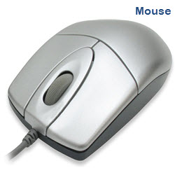 E-Force PS2 Wired Optical Sliver Mouse