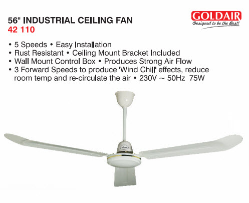Goldair 42 110 56 inch industrial 3 blades ceiling fan online undefined mozeypictures Images