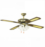 GoldAir CF-400A 52in Deluxe 4 Blades 4 Lights Ceiling Fan