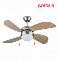 GoldAir GCF-132 42in Deluxe 4 Blade 1 Light Ceiling Fan