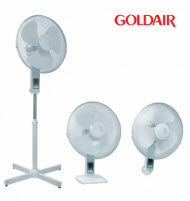 GoldAir GCF-1603B 40cm 3-In-1 Desk, Pedestal and Wall Mount Fan