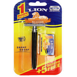 Lion Stainless Double Edge Shaving Razor with 5 Blades