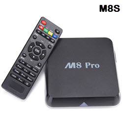 M8S 2GB RAM 8GB Fully Loaded Kodi Android TV Box