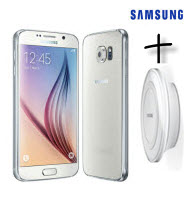 Samsung GALAXY S6 White LTE 5.1 Smartphone with WL Charger