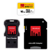 Strontium Nitro Micro SDHC 433X UHS-1 Card with Adaptor & USB Re