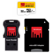 Strontium Nitro Micro SDHC 466X UHS-1 Card with Adaptor & USB Re
