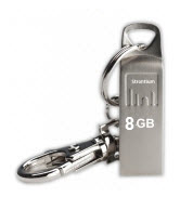 Strontium AMMO Silver 8GB USB Flash Drive with FREE Key Chain