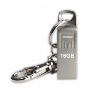 Strontium AMMO Silver 16GB USB Flash Drive with FREE Key Chain