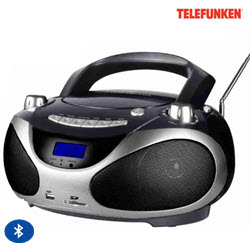 Telefunken TCD-1011BT Bluetooth Portable Radio CD MP3 Player