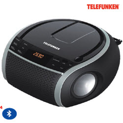Telefunken TCD-225BT Bluetooth Portable Radio CD MP3 Player