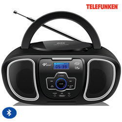 Telefunken TCD-811BT Bluetooth Portable Radio CD MP3 Player