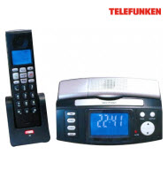Telefunken TCH-707 2 Sets of Cordless Telephone with Clock Funct