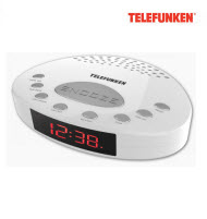 Telefunken TCR-004W FM Alarm Digital Clock Radio