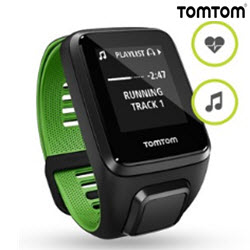 TomTom Runner 3 Cardio Music Smart Watch Large Black Gree