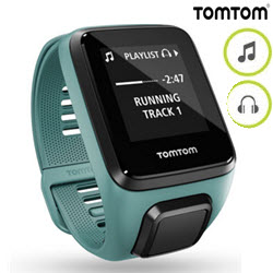 TomTom Spark 3 GPS Cadio Fitness Music Watch Small Aqua
