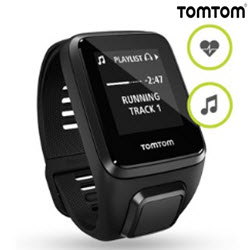 TomTom Spark 3 GPS Cadio Fitness Music Watch Large Black