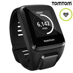 TomTom Spark 3 GPS Cadio Fitness Smart Watch Large Black