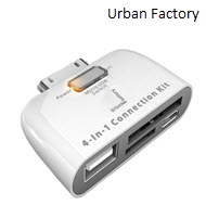 Urban Factory ICR02UF 4 in 1 iPad Memory Card Reader