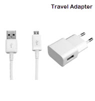 Travel Adapter With Micro USB Cable