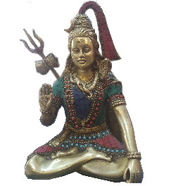 Lord Shiva 12 Inch Handmade Brass Idol Decor Statue