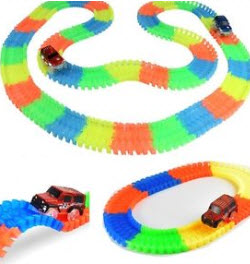 Magic Tracks 56 Piece Flex Blend Curve & Car