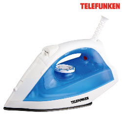 Telefunken TSS-200B Blue Steam Spray and Surge Electric Iron