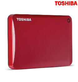 Toshiba Canvio Connect II 2TB USB3.0 Red Ext Hard Drive