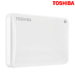 Toshiba Canvio Connect II 3TB USB3.0 White Ext Hard Drive
