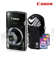 Canon PowerShot IXUS 160 Black 20MP Digital Compact Camera Bundl