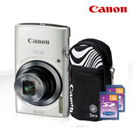 Canon PowerShot IXUS 160 White 20MP Digital Compact Camera Bundl