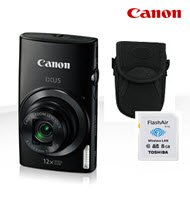 Canon PowerShot IXUS 170 Black 20MP Digital Compact Camera Bundl