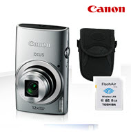 Canon PowerShot IXUS 170 Silver 20MP Digital Compact Camera Bund