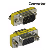 VGA Male to VGA Female Converter
