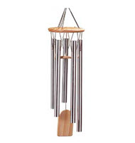 WindChime Medium 8 Silver Tubes